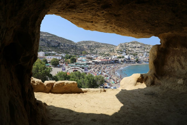 그리스 크레타섬 마탈라 동굴