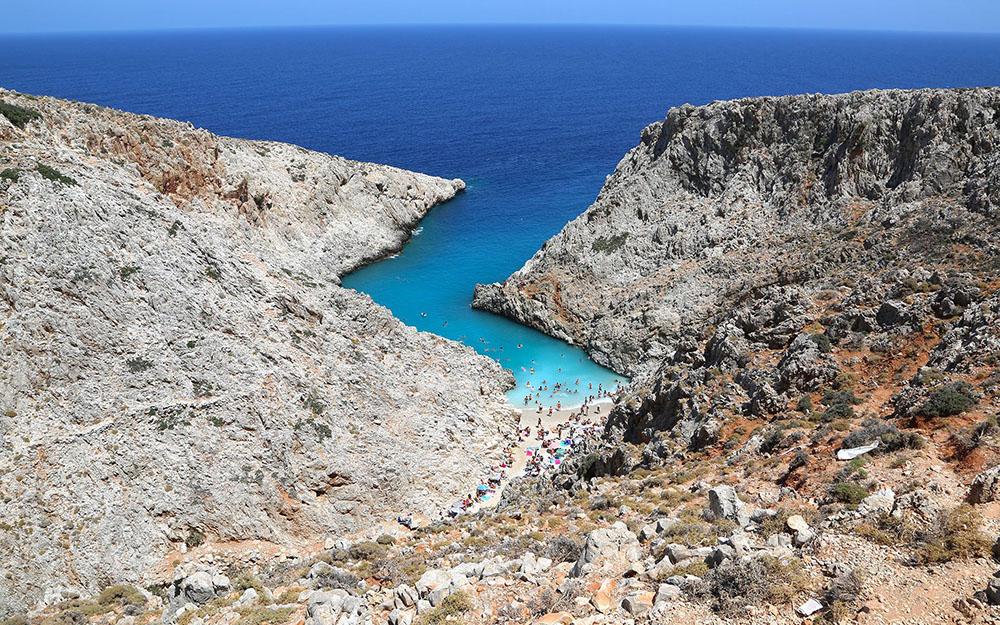 그리스 크레타섬, 세이탄 리마니아 해변